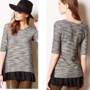 Anthropologie Clu + Willoughby SS Knit Sweater Top